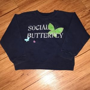 Adorable social buttery girly sweatshirt navy